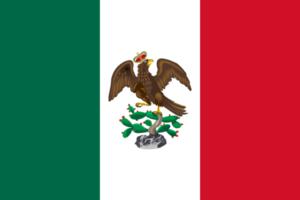 Bandera de México Agustin de Iturbide