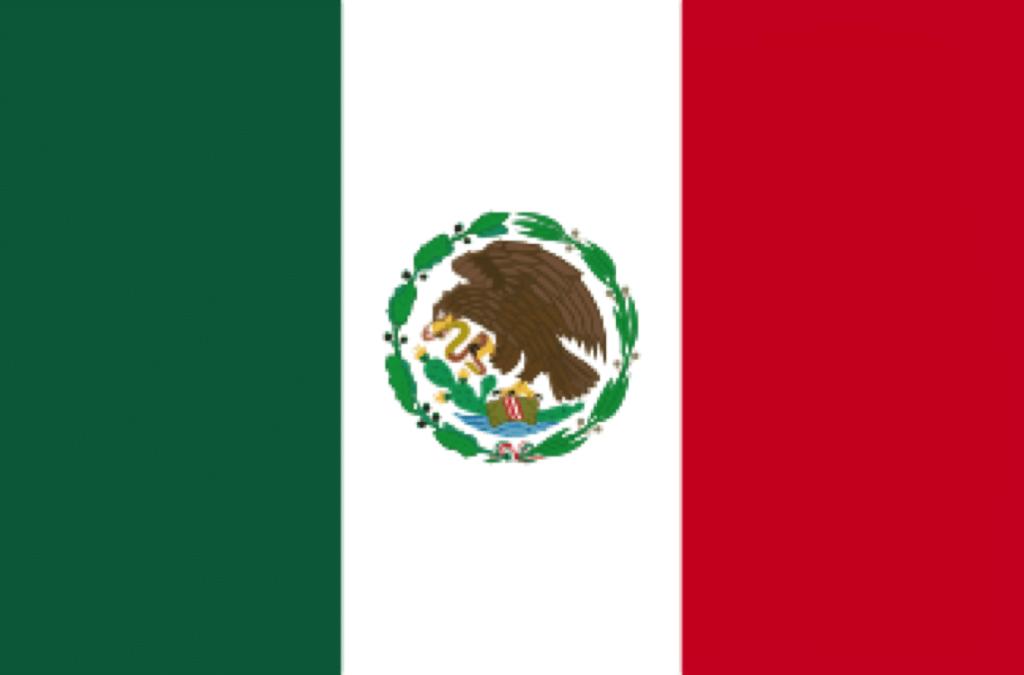 Bandera de 1934 con un nuevo Escudo Nacional