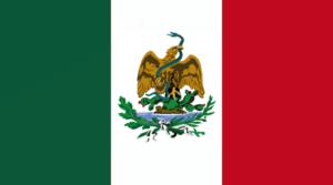 Segunda Bandera de la Presidencia de Porfirio Diaz