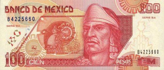 Billete 100 Mexico Tipo D Anverso