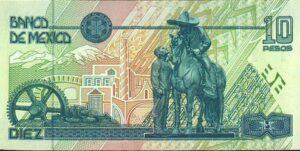 Billete_$10_Mexico_Tipo_D_Reverso