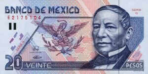 Billete_$20_Mexico_Tipo_D_Anverso