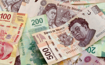 Mexican Pesos, bank notes, currency bills, money