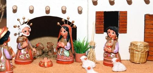 Miniature Ceramic Nativity