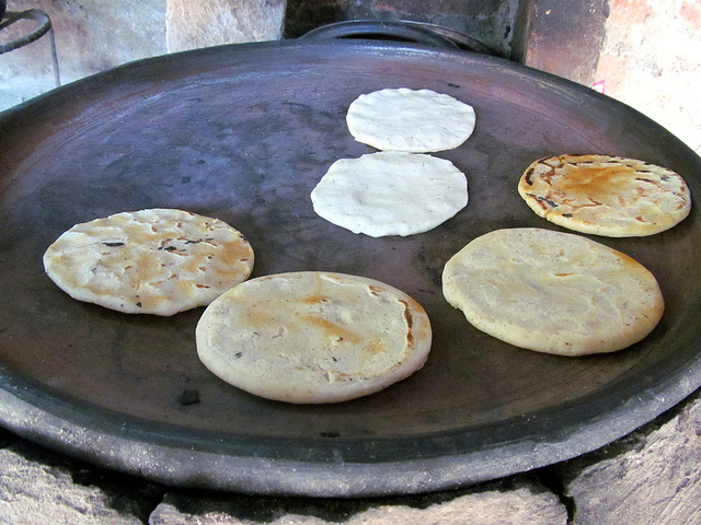 Tortillas on Comal. Picture by Victor Castro