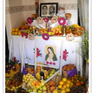 the day of the dead ofrenda inside mexico