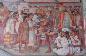 Mural de Arturo Garcia Bustos  en el Palacio de Gobierno Oaxaca