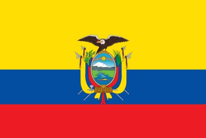The Flag Of Ecuador Inside Mexico