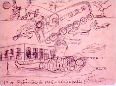 Frida's accident drawing.