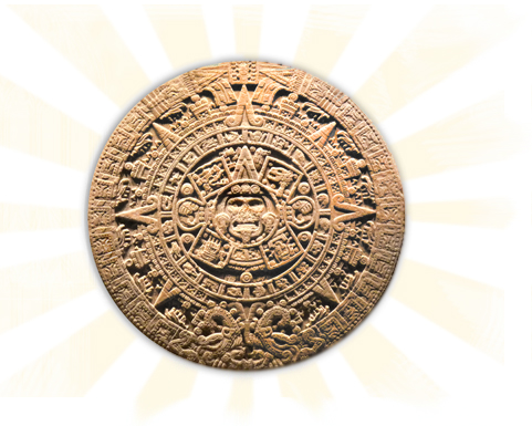 the aztec sun stone inside mexico