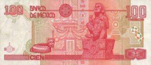 Billete_$100_Mexico_Tipo_D_Reverso