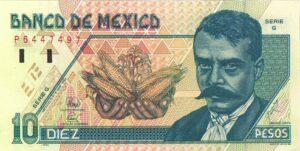 Billete_$10_Mexico_Tipo_D_Anverso 2