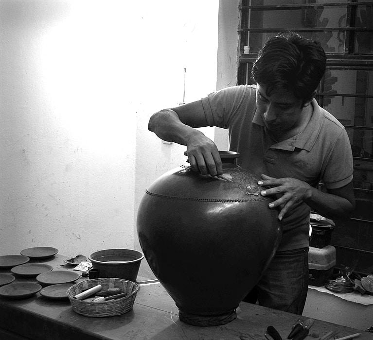 Omar Fabian in his Studio