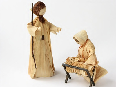 Christmas Nativity made of Straw