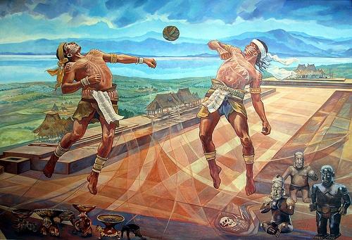 Aztec fun games inside mexico for El mural jalisco
