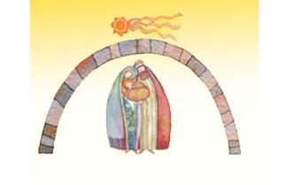 Christmas nativity scene: Jesus Christ , Joseph, Mary