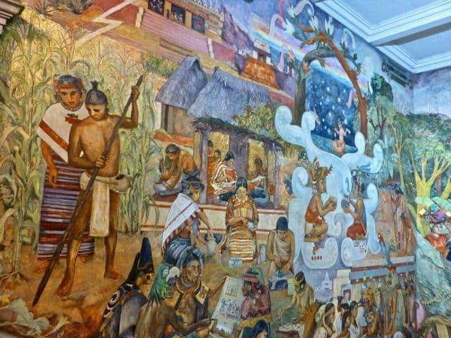 Mural de Arturo Garcia Bustos en Palacio de Gobierno Oaxaca