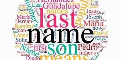 10 Most Popular Last & First Names